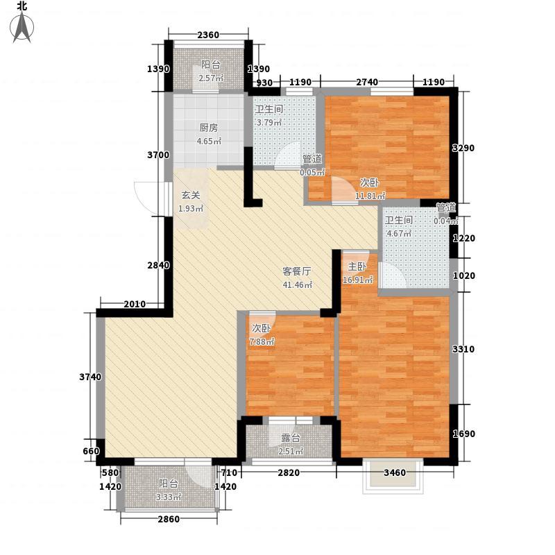 丽水金阳125.00㎡L2户型3室2厅2卫