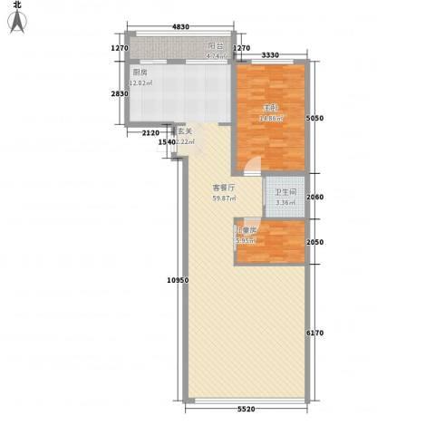 金兴星海国际2室1厅1卫0厨118.00㎡户型图