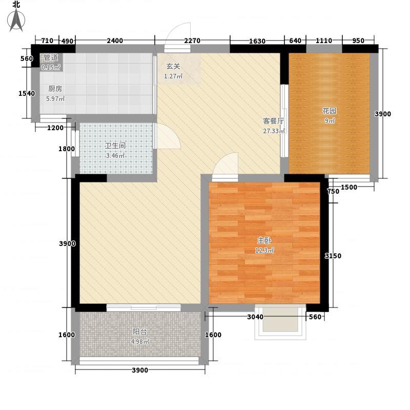 三和光谷道1室1厅1卫1厨91.00㎡户型图