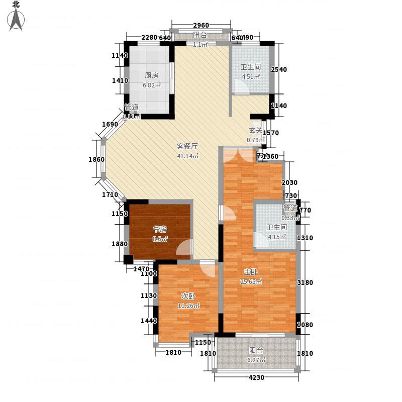 名邦西城秀里135.00㎡名邦西城秀里户型图ⅡC3室2厅2卫1厨户型3室2厅2卫1厨