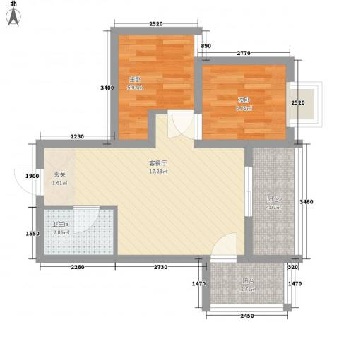 柳西新村2室1厅1卫0厨58.00㎡户型图