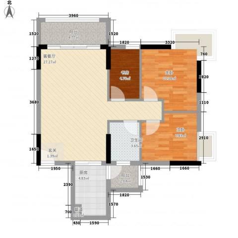 凯欣苑3室1厅1卫1厨81.00㎡户型图