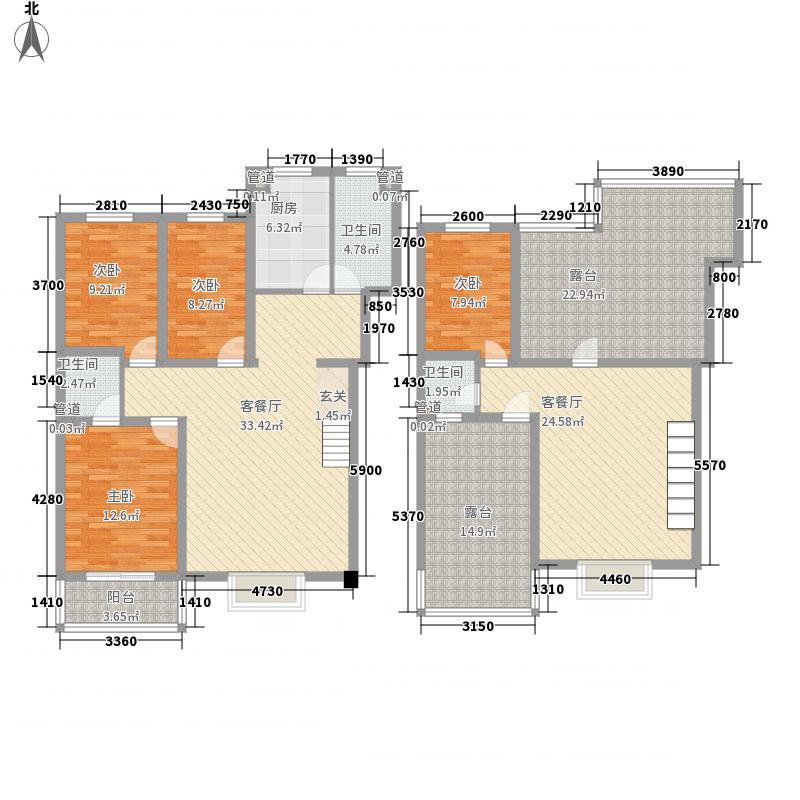 蓝天美林湾蓝天美林湾户型图H1户型户型10室