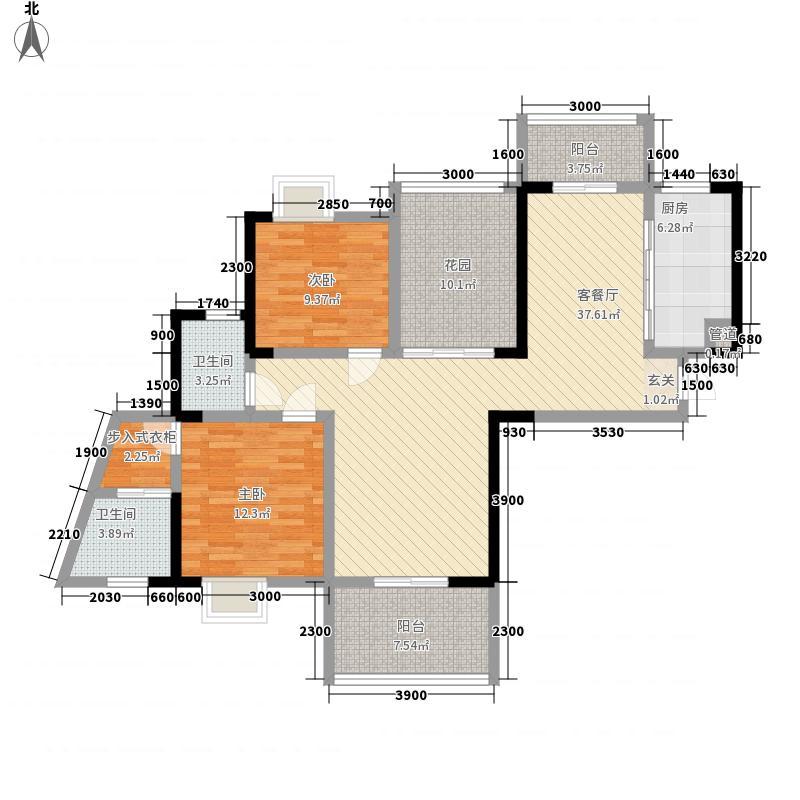 三和光谷道2室1厅2卫1厨141.00㎡户型图