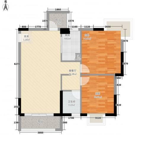 凯欣苑2室1厅1卫1厨84.00㎡户型图