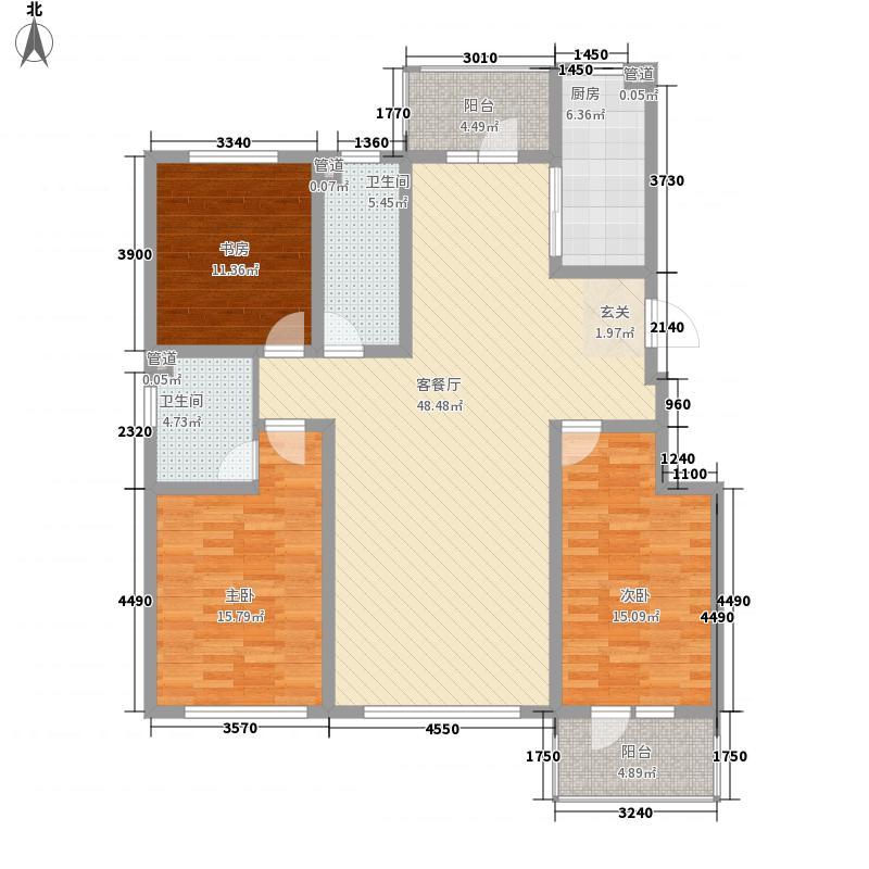 天阳泰富西苑135.00㎡2#A1户型3室2厅2卫1厨