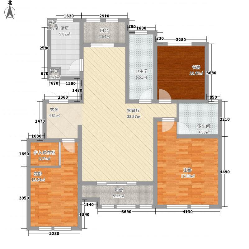 黄金佳苑175.00㎡户型3室