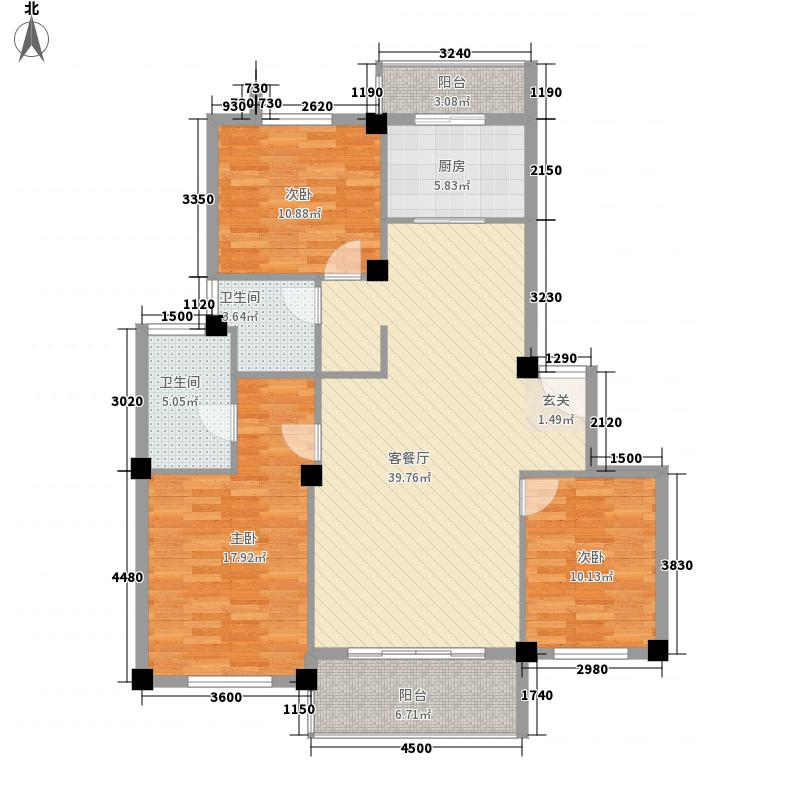马浦丰和园户型3室2厅2卫1厨