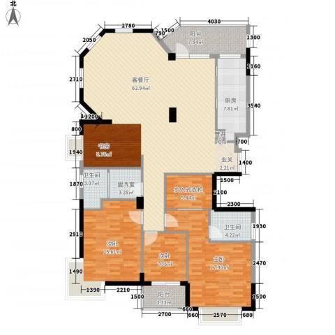 半岛花园一期3室2厅2卫1厨192.00㎡户型图
