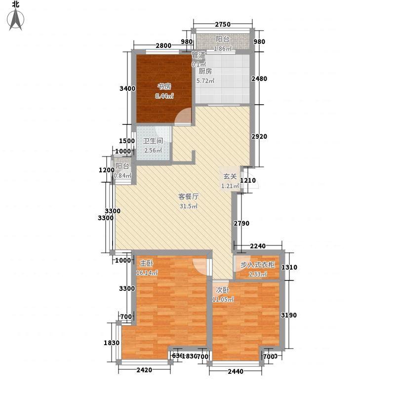 大北桥社区 3室 户型图