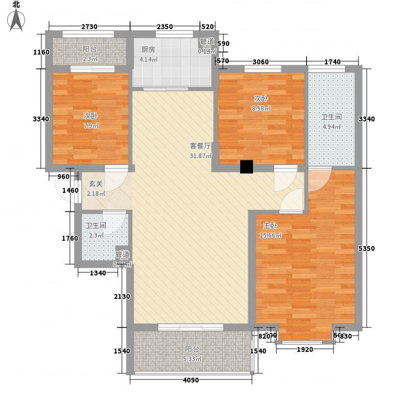 大家新城111.36㎡B5d户型3室2厅2卫1厨