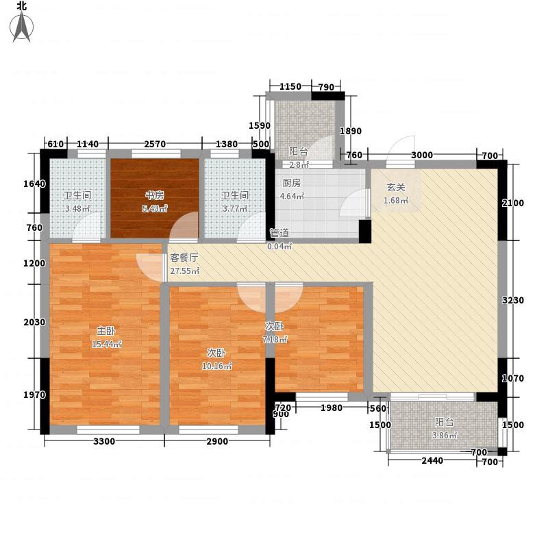 龙湖紫云台4室1厅2卫1厨84.35㎡户型图