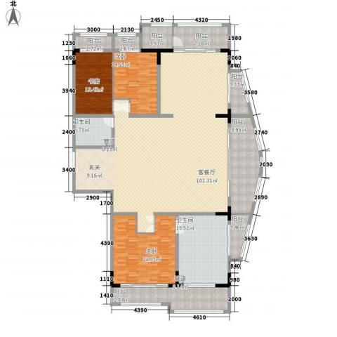 温莎大道3室1厅2卫0厨307.00㎡户型图