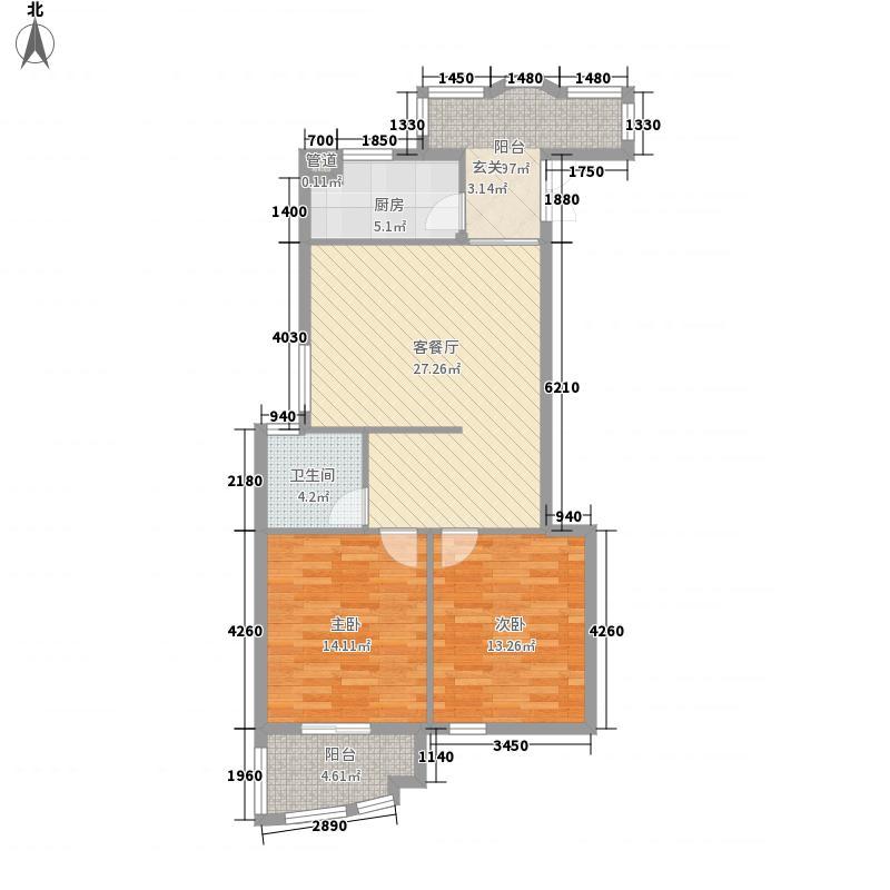 罗马生态园89.74㎡罗马生态园户型图2室1厅1卫1厨户型10室