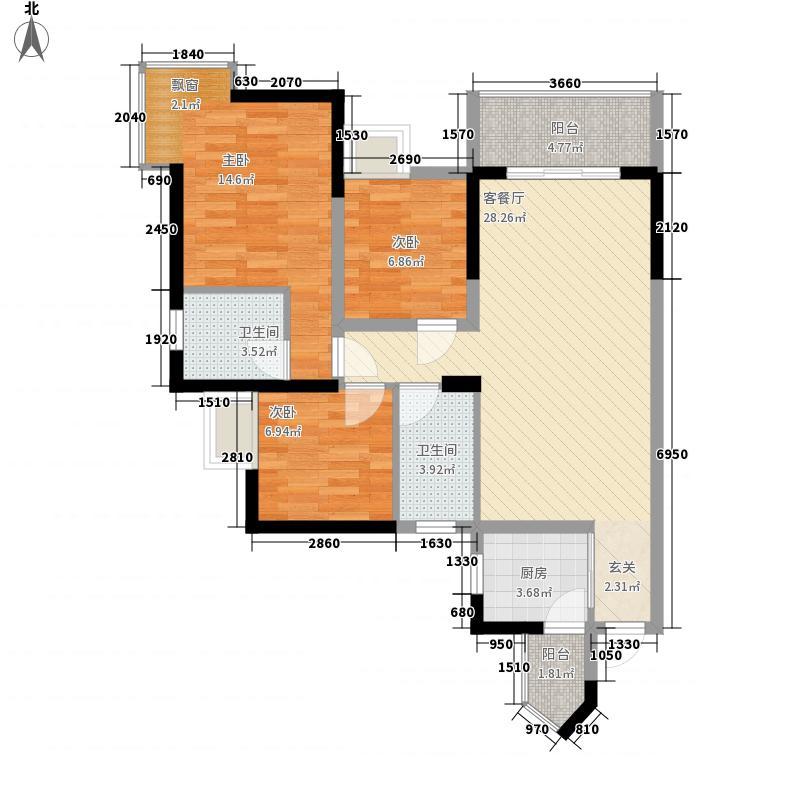 海悦湾户型3室