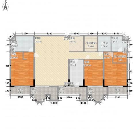 温莎大道3室1厅3卫1厨234.00㎡户型图
