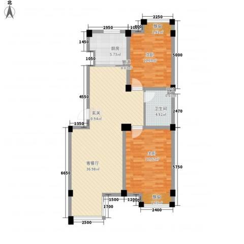 七里香堤2室1厅1卫1厨111.00㎡户型图