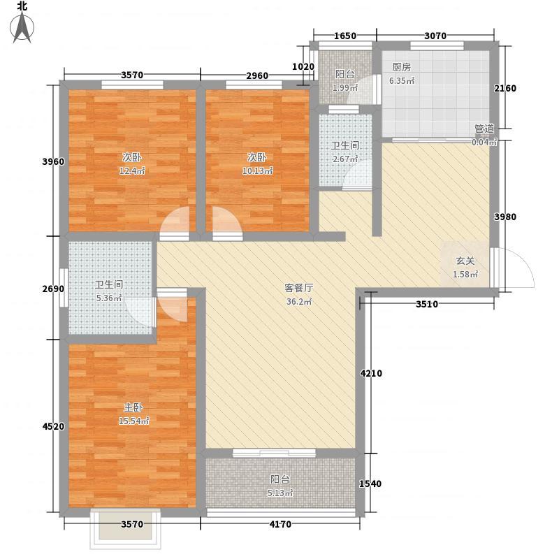 晖达新领地138.75㎡A户型3室2厅2卫