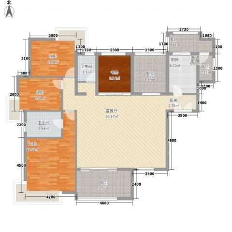 丽水佳园4室1厅2卫1厨138.66㎡户型图