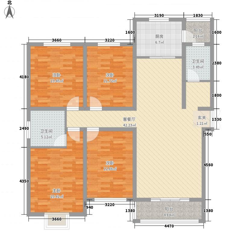 晖达新领地168.63㎡D户型4室2厅2卫