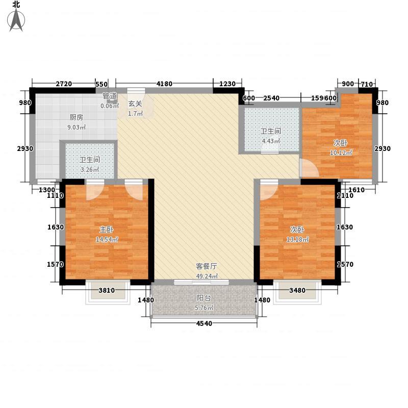 在水一方3室1厅2卫0厨141.00㎡户型图