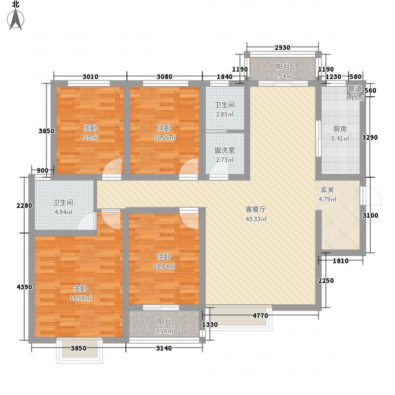孟津红太阳花园163.00㎡户型