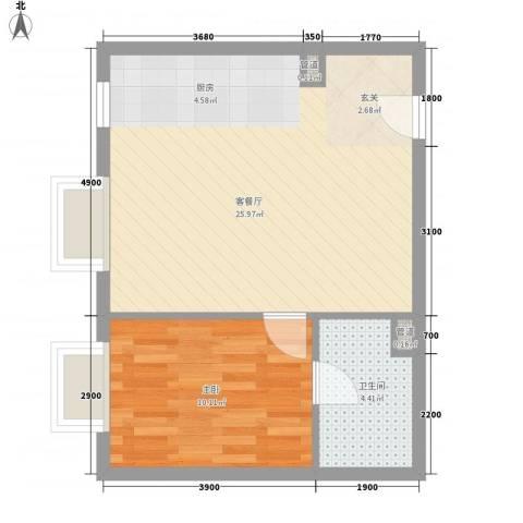 北京尊府1室1厅1卫0厨65.00㎡户型图