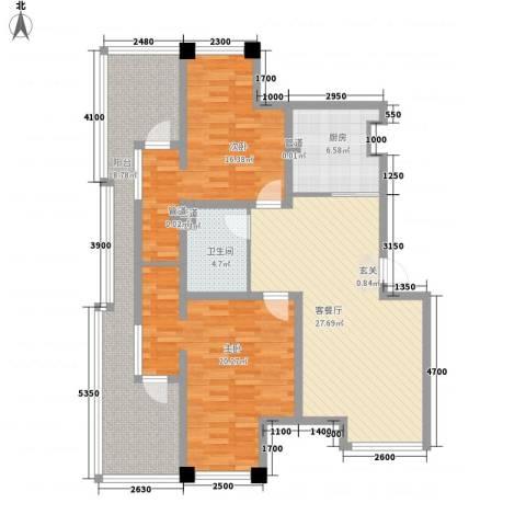 七里香堤2室1厅1卫1厨137.00㎡户型图