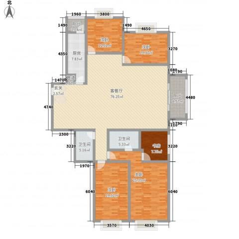 东城万福楼5室1厅2卫1厨181.50㎡户型图