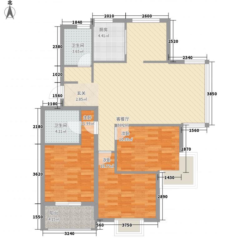 御花园三期121.00㎡多层户型3室2厅2卫1厨