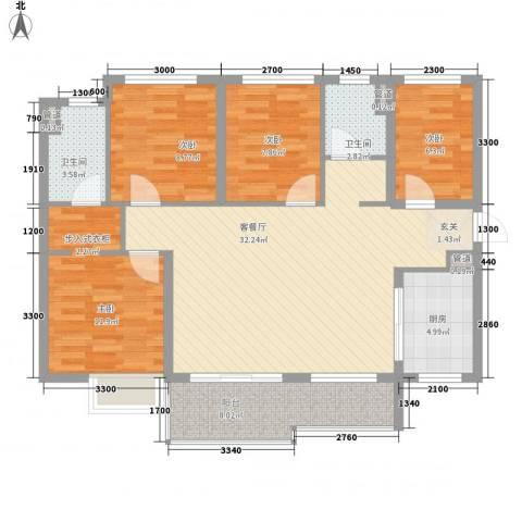 万科金域蓝湾4室1厅2卫1厨86.94㎡户型图