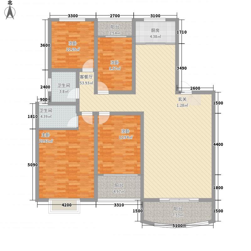 瑞城国际社区138.00㎡户型4室