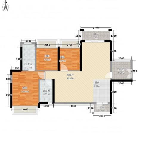 丰湖村3室1厅2卫0厨127.00㎡户型图