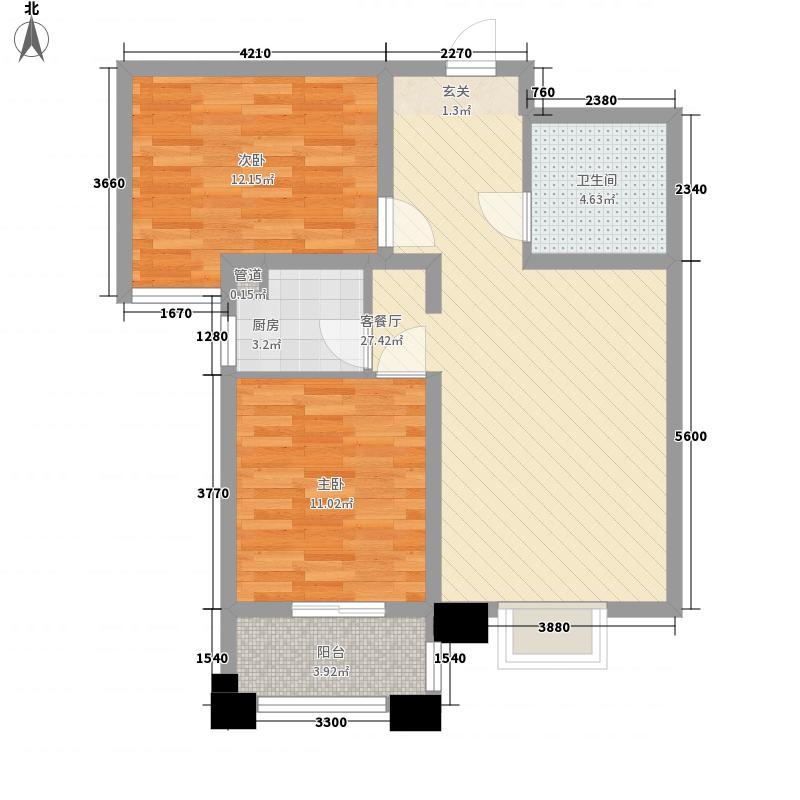 长乐东苑户型2室