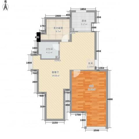 七里香堤1室1厅1卫1厨103.00㎡户型图