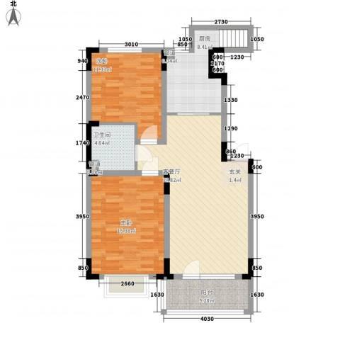 融城7英里2室1厅1卫1厨102.00㎡户型图