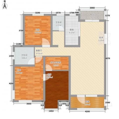 芳汀花园3室1厅2卫1厨115.00㎡户型图