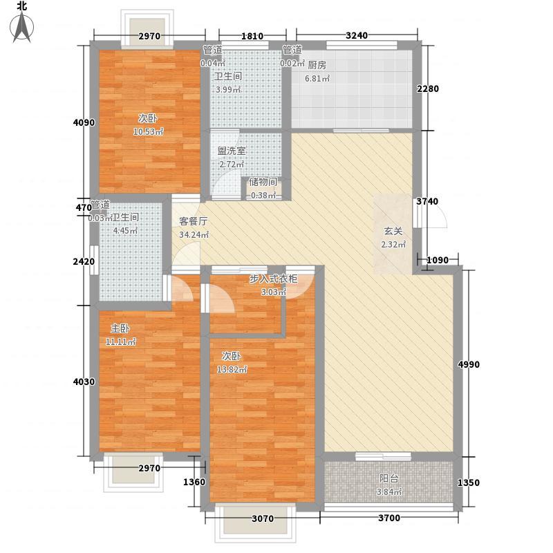 上河园137.00㎡户型3室