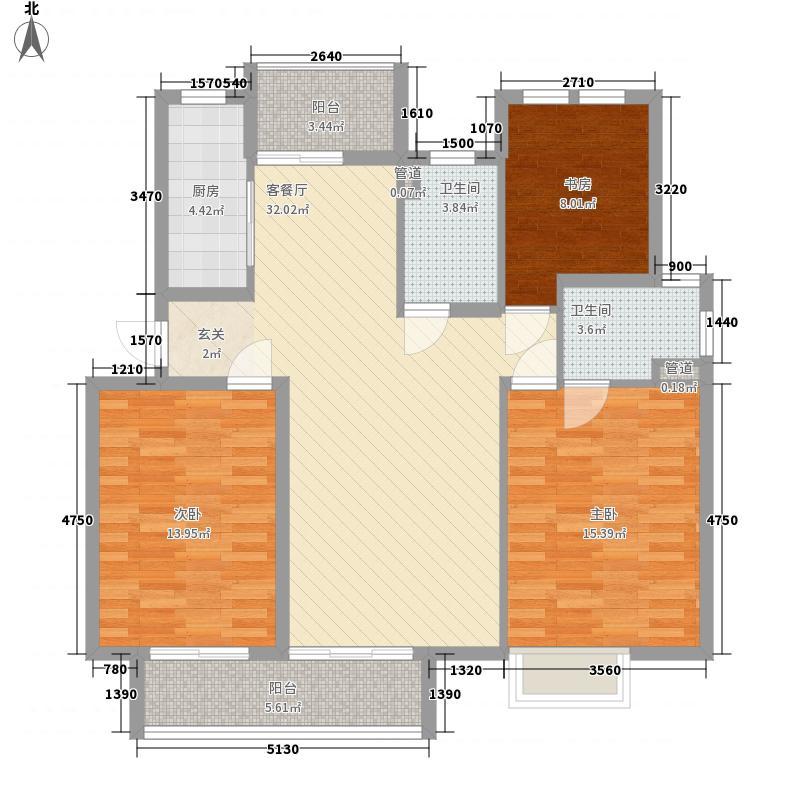 绿都花园7.00㎡户型3室