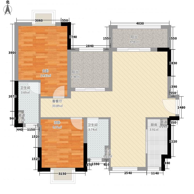 锦龙湾畔16.00㎡D户型3室2厅2卫1厨