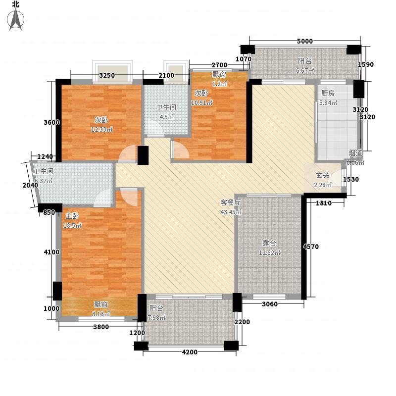金山湖花园157.40㎡102栋1单元01户型3室2厅2卫