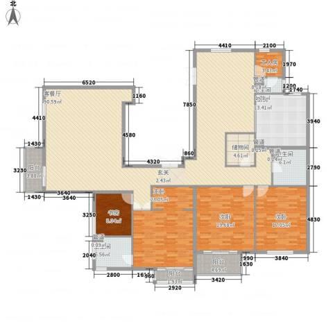 北京华侨城4室1厅3卫1厨291.00㎡户型图