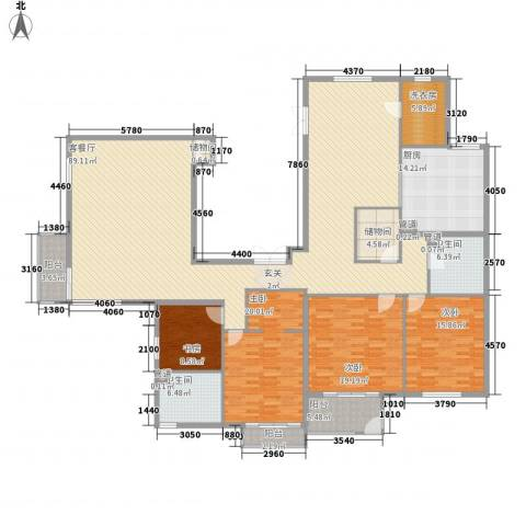 北京华侨城4室1厅2卫1厨289.00㎡户型图