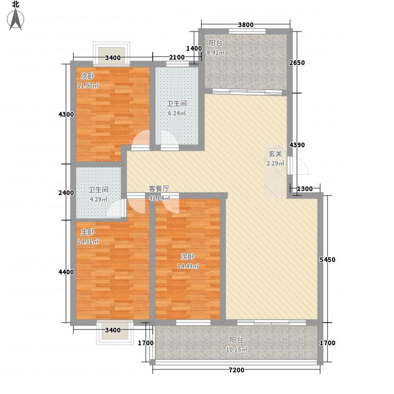 银枫家园13.00㎡二期西区多层户型3室2厅2卫1厨