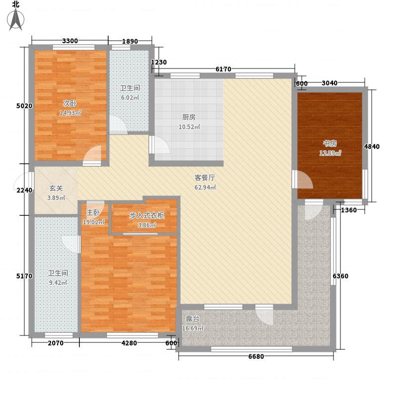 东方圣荷西183.66㎡户型3室2厅2卫1厨