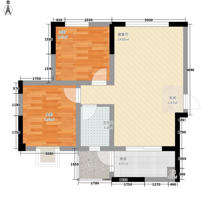 电讯厂宿舍二居户型