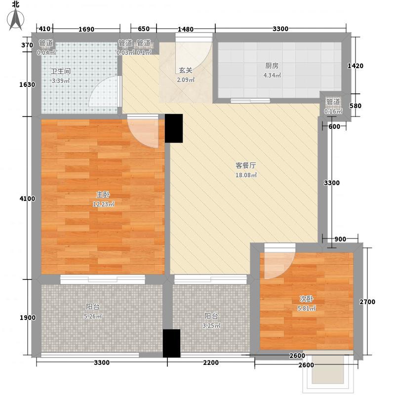 重汽彩世界3C-2户型2室1厅