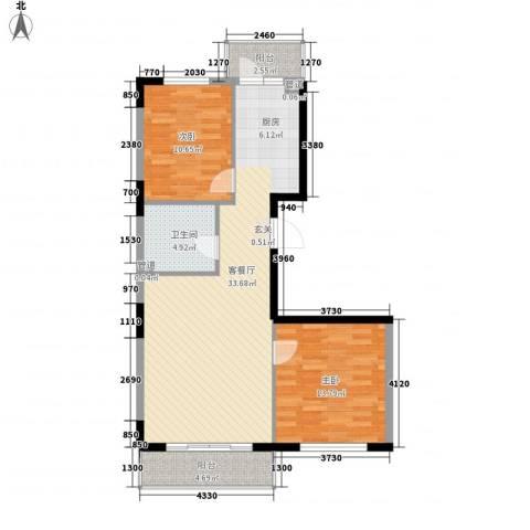 金博花园2室1厅1卫0厨98.00㎡户型图