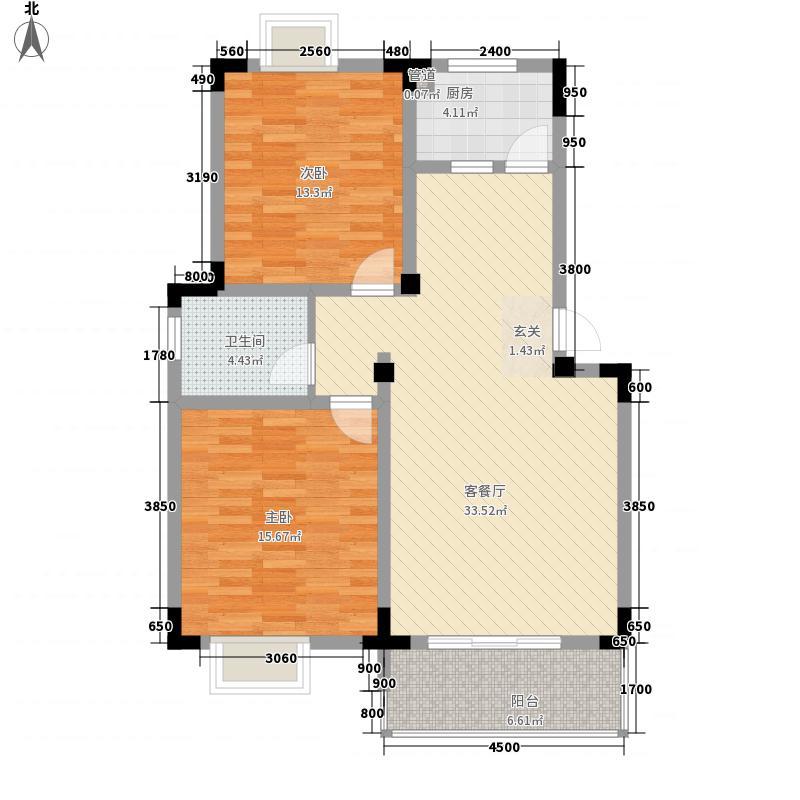 金阳新城户型2室