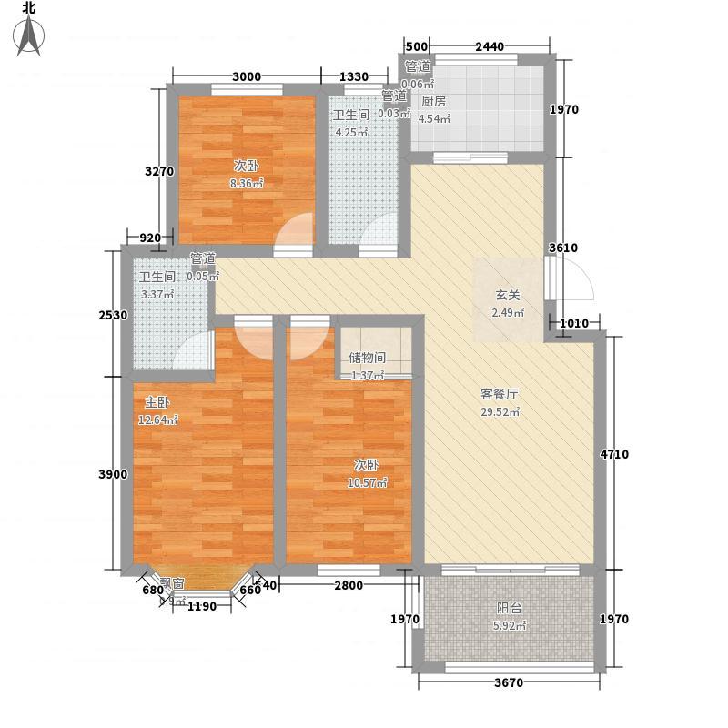 阳光馨苑(城阳)118.80㎡C户型3室2厅2卫1厨